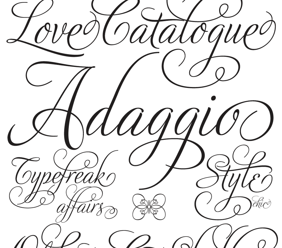Pretty Script Fonts for Tattoos