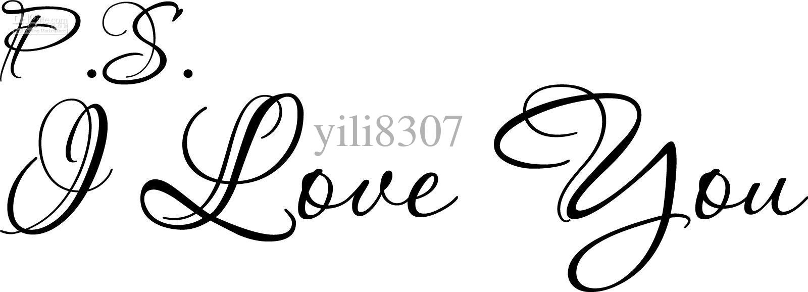 9 I Love You In Calligraphy Script Font Images - Fancy ...  Love Calligraphy Font