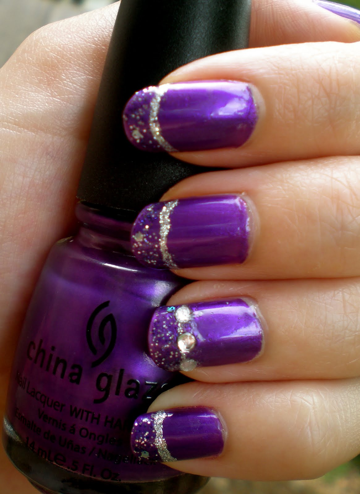 12 Purple And White Nail Art Designs Images