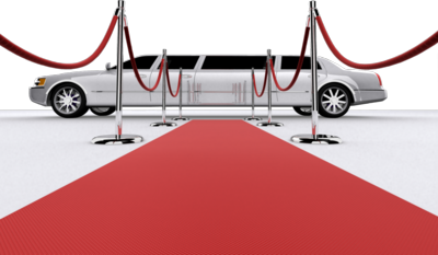 Red Carpet Backdrops with Limo
