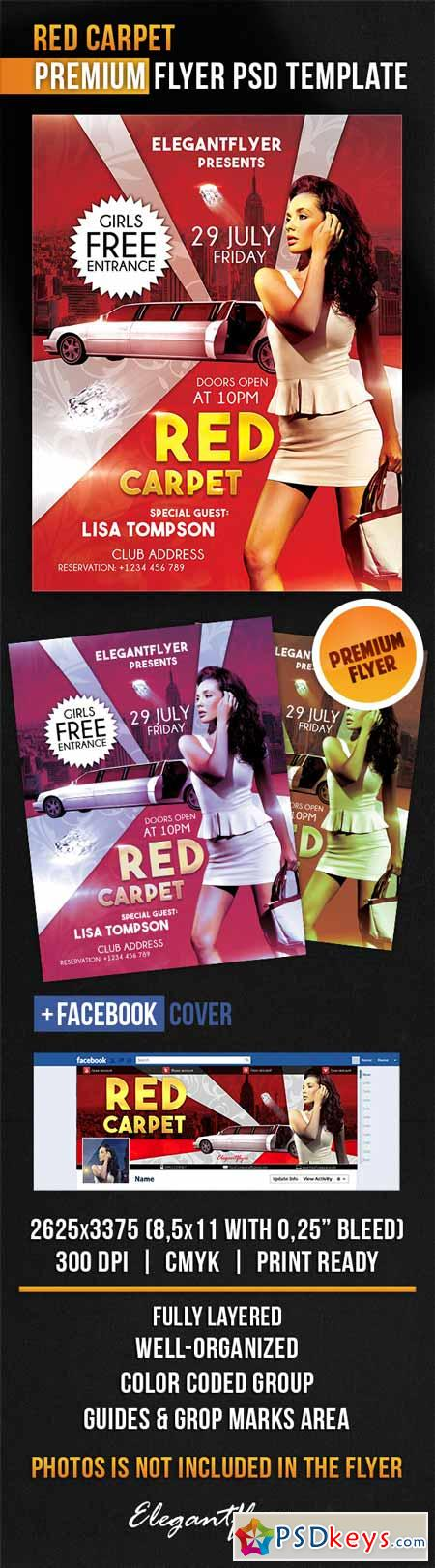 Red Carpet Flyer Template Free