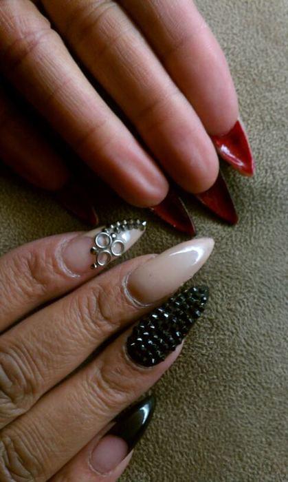 Red Stiletto Nails Tumblr