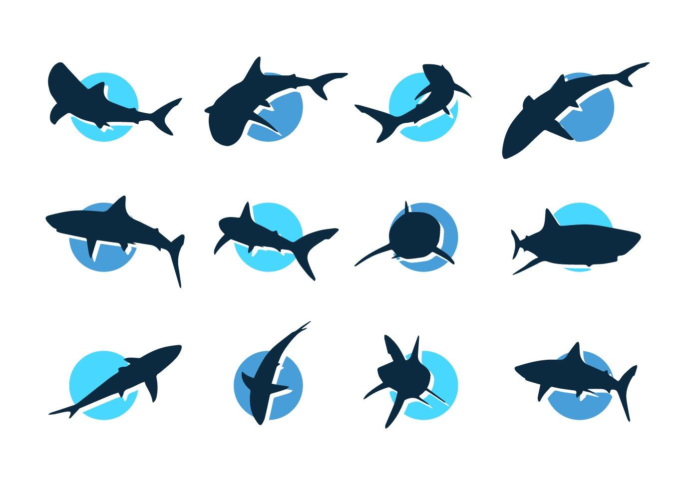 Shark Silhouette Vector Free