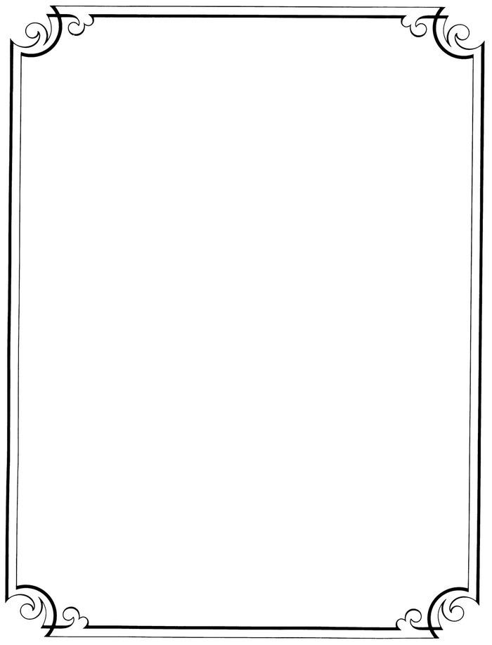 Simple Border Design Paper