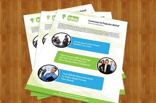 Single-Page Brochure Design Templates