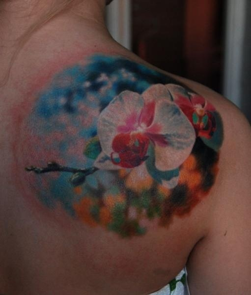Small Abstract Flower Tattoos