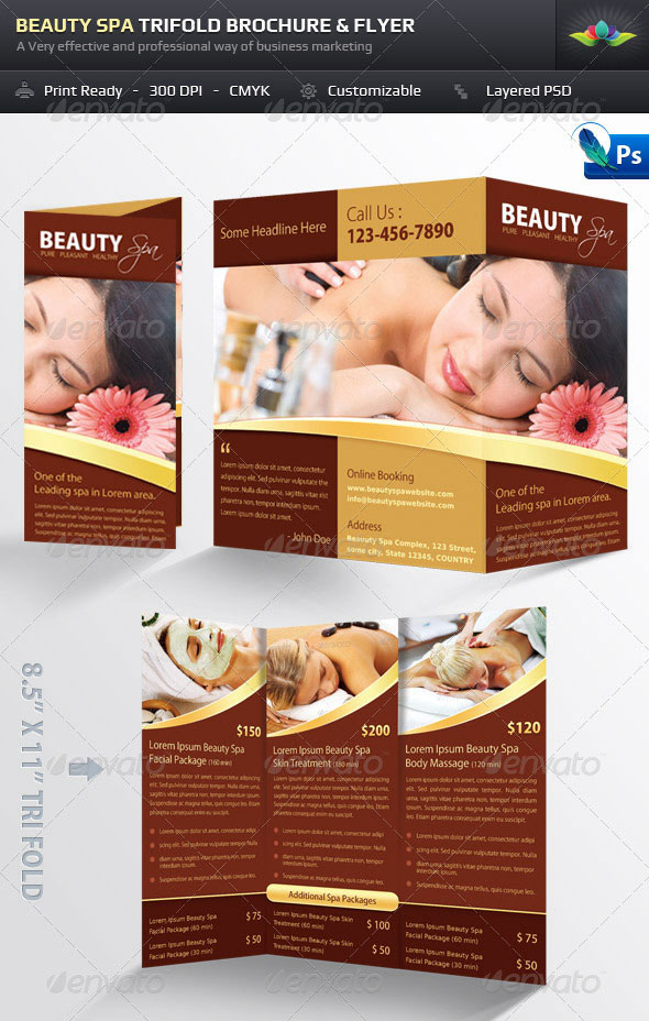 Spa Brochure Templates Free