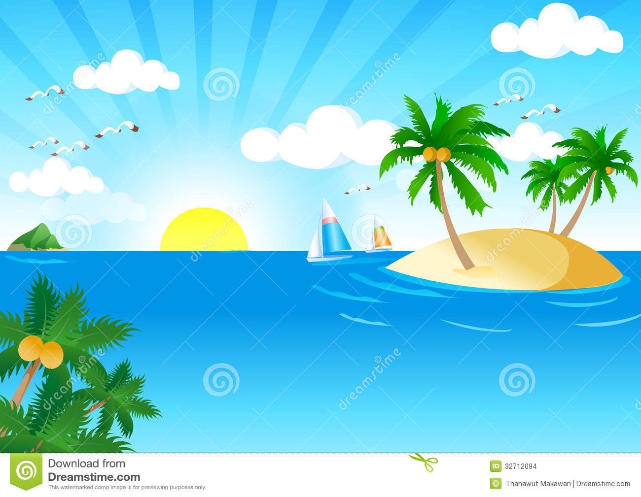 12 Vector Summer Beach Wave Images