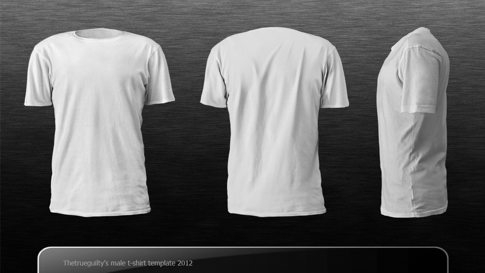 19 T-Shirt Template Photoshop PSD Download Images