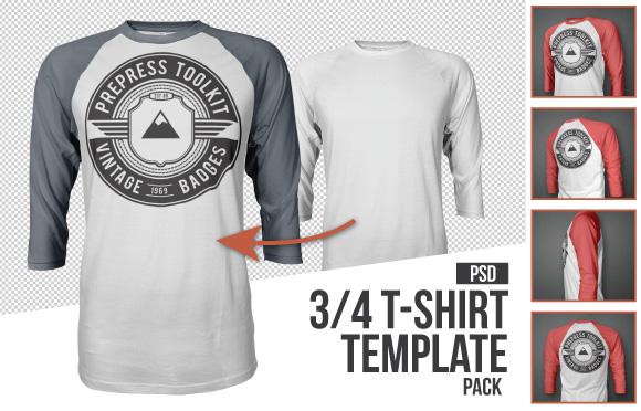 T-Shirt Template Sleeve