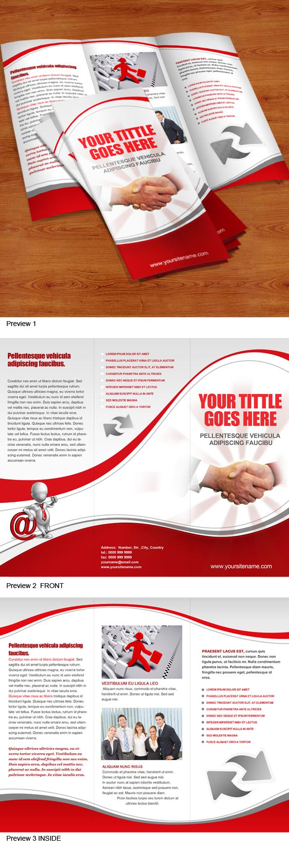Tri-Fold Brochure Templates Free Downloads