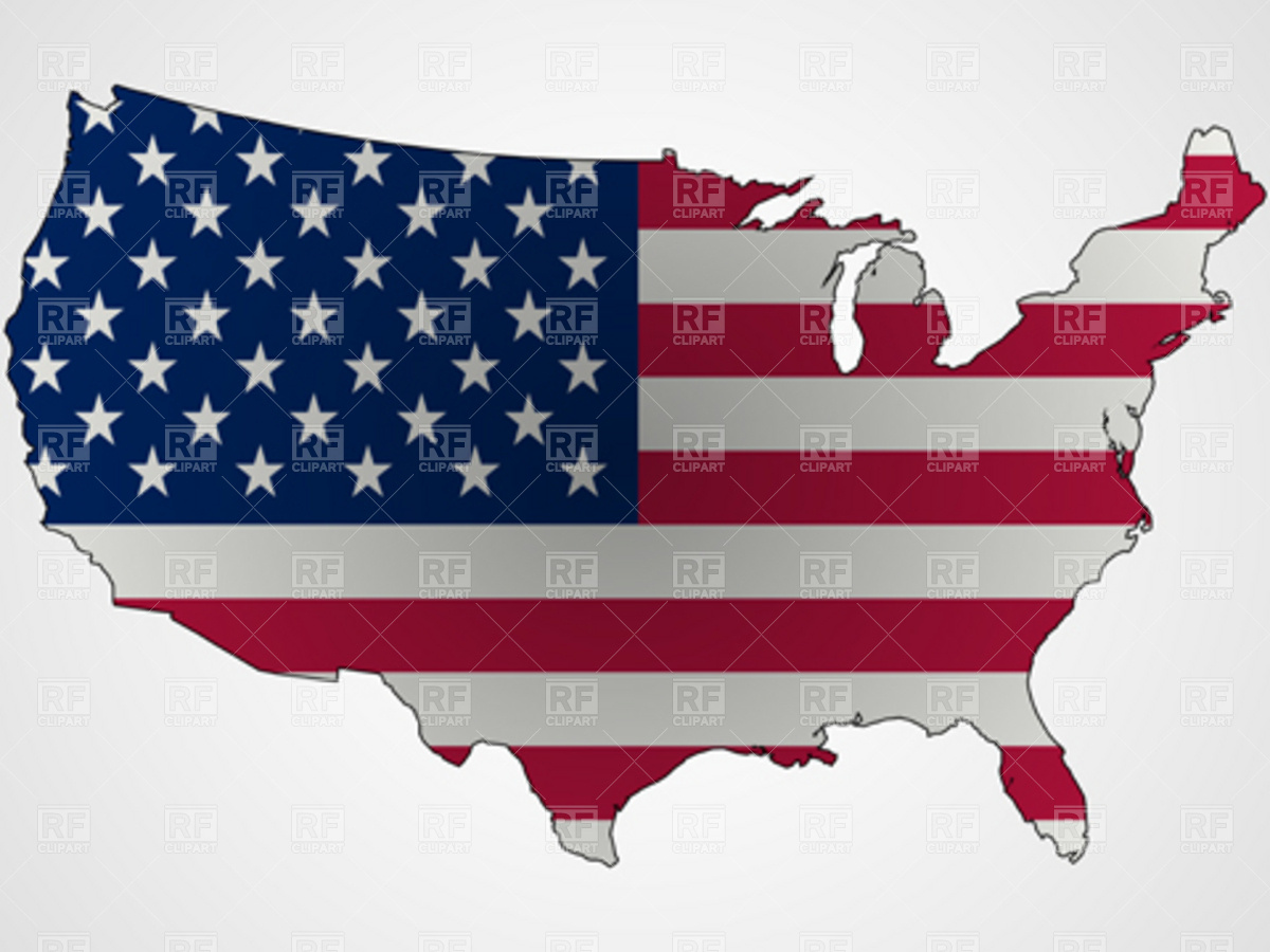 19 Us Map Vector Art Images - USA Blank Map United States, United ...