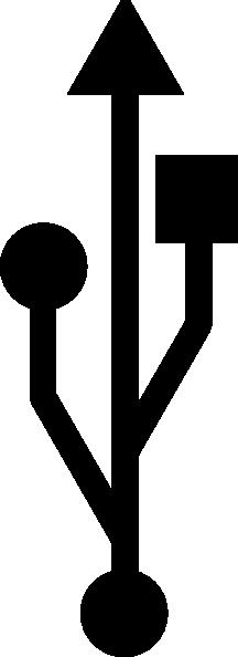 USB Symbol Clip Art