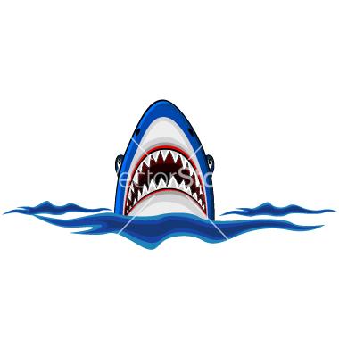 Vector Angry Shark Cartoon