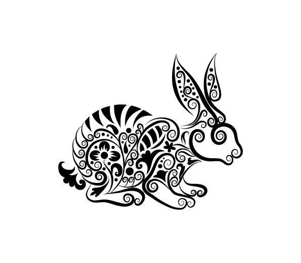 Vector Line Art Animal Patterns