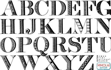 Vector Roman Print Font