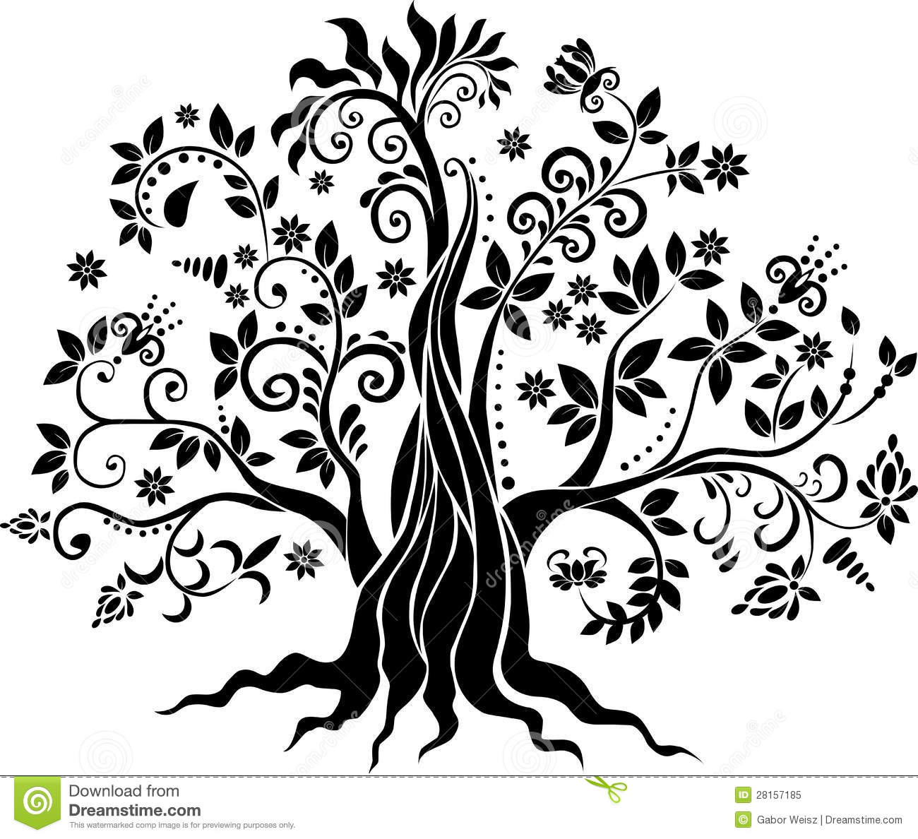 Vector Trees Clip Art