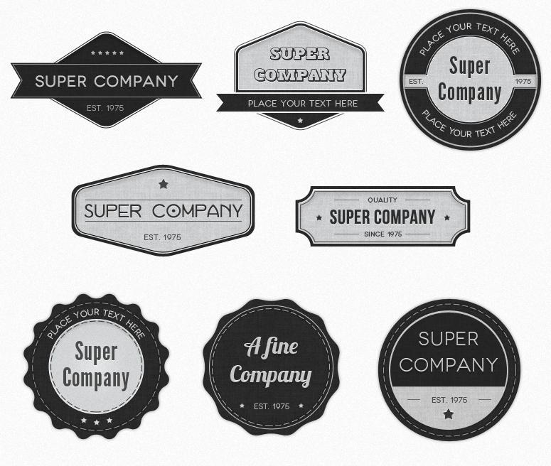 14 Logo Photoshop Badge Shapes Images