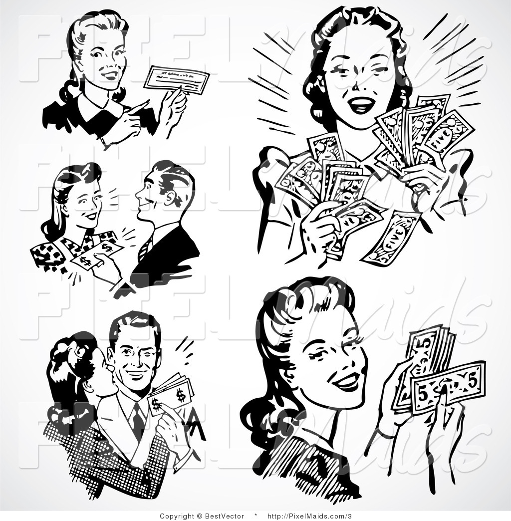 Vintage Retro People Clip Art Free