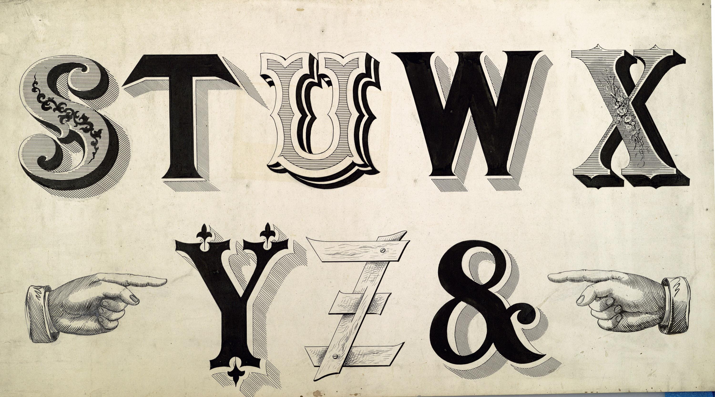 14 Old Vintage Font Images