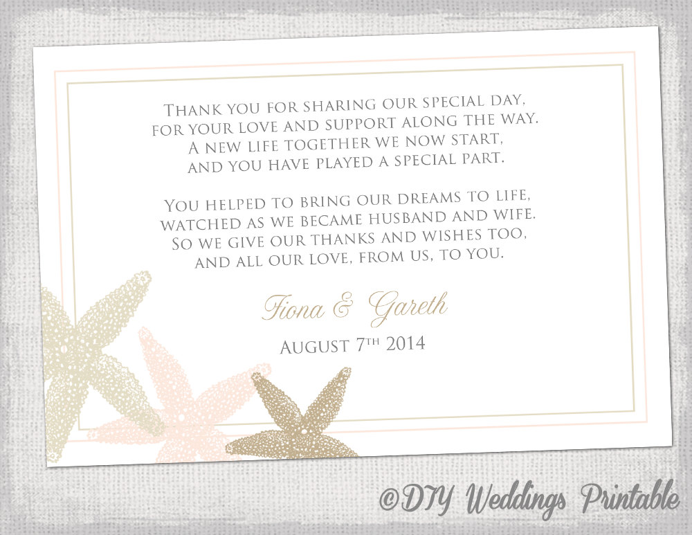 Thank You Wedding Card Template Zrom