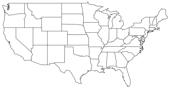 Maps Usa Map Transparent Background Stock Images RoyaltyFree - White vector map of the us