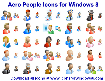 20 Microsoft Vista People Icon Images