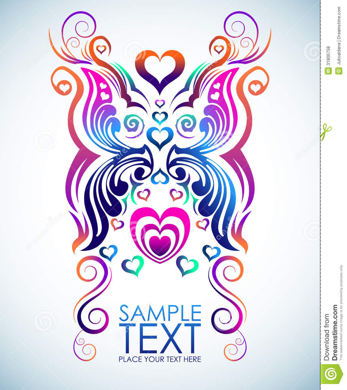 14 Design Abstract Floral Butterfly Vector Images