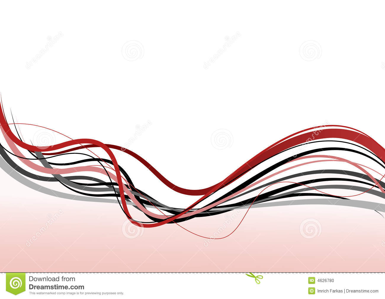 Abstract Line Vector Art