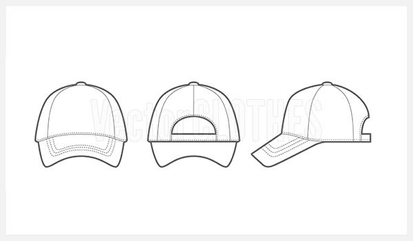 18 baseball hat template images baseball cap vector