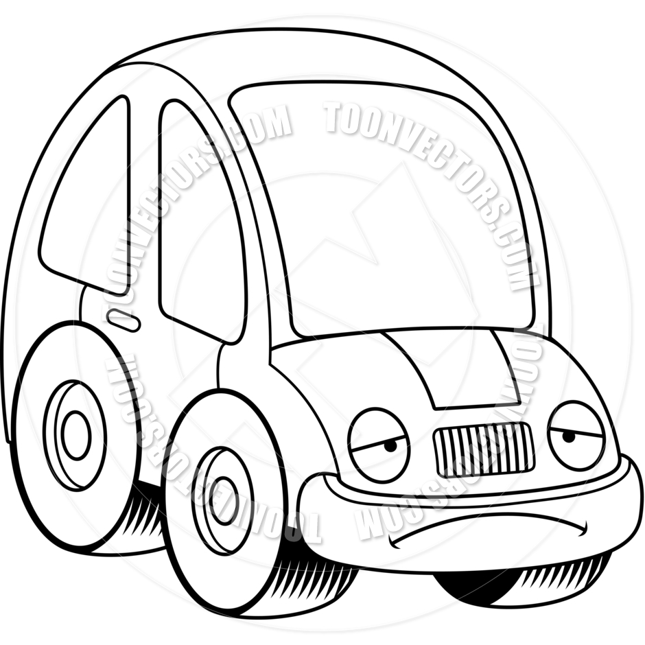 18 Sad Cartoon Car Vector Images