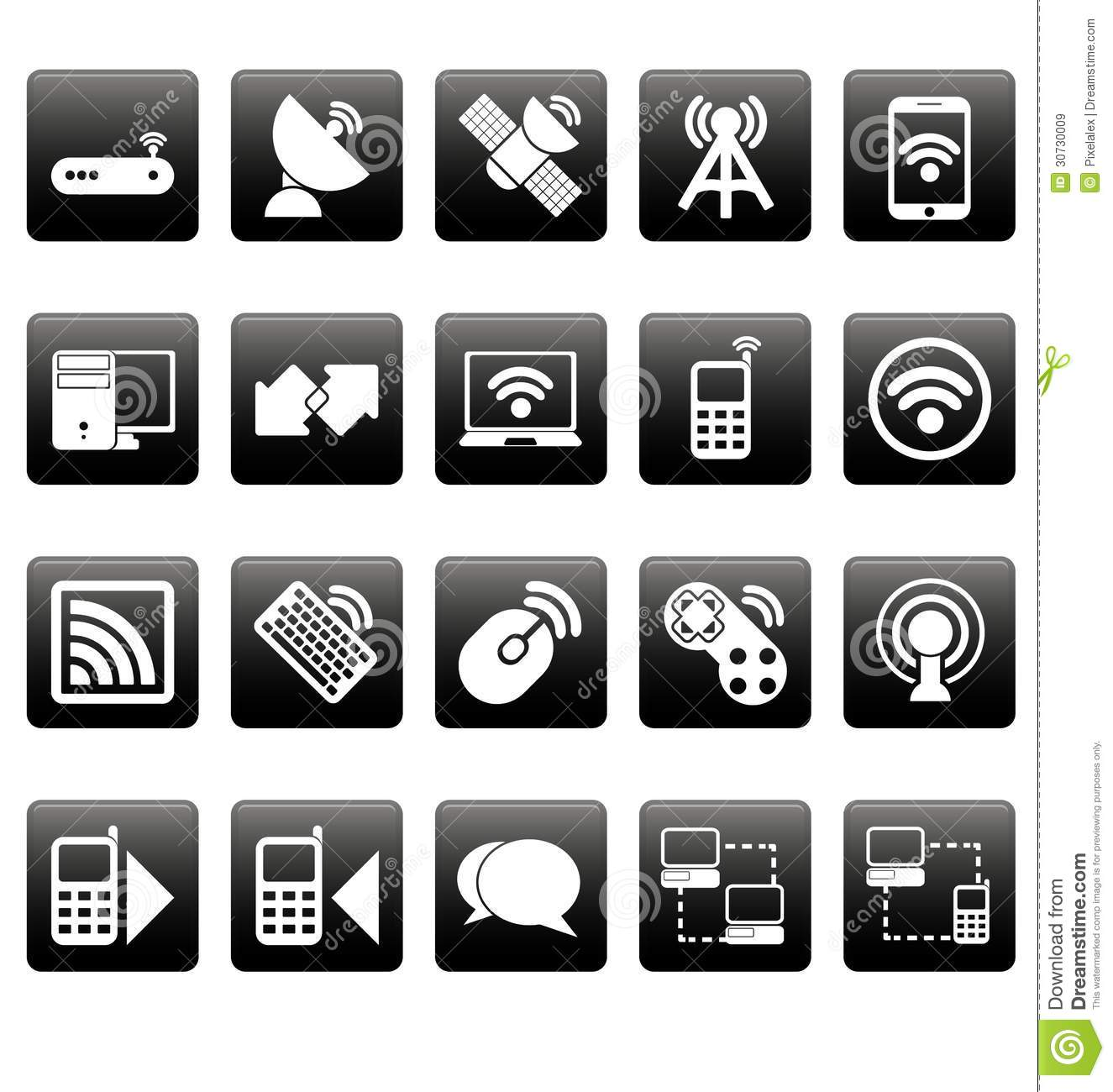 9 Black And White Network Icon Images