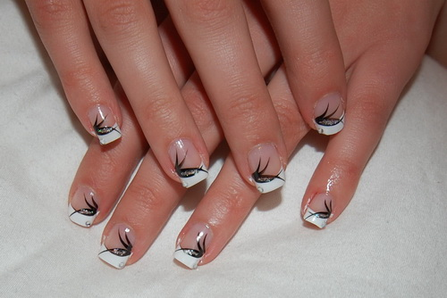 13 Black Tip Nail Designs Images , Black French Tip Nail