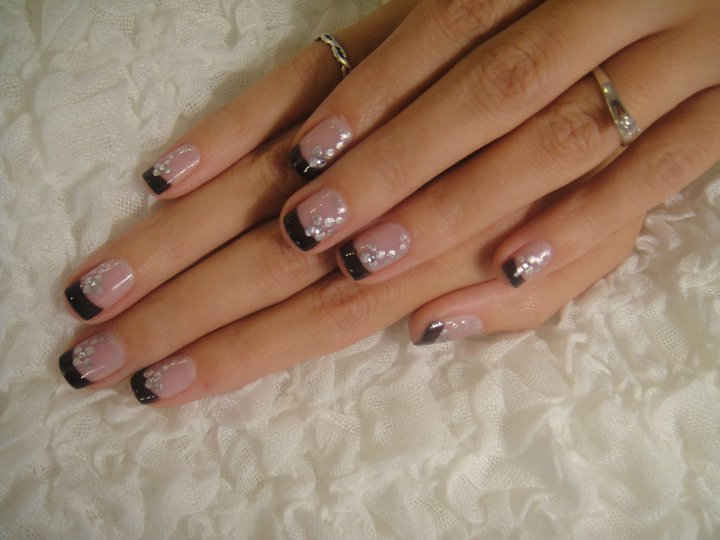 13 Black Tip Nail Designs Images Black French Tip Nail Designs