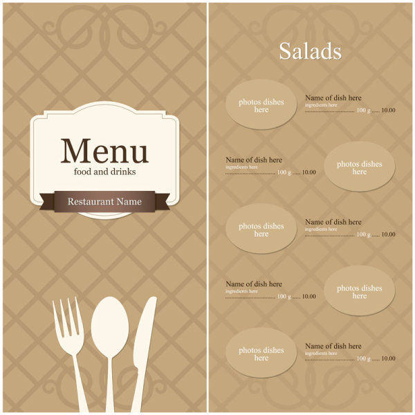 14 menu design templates free download images menu for Free menu design templates