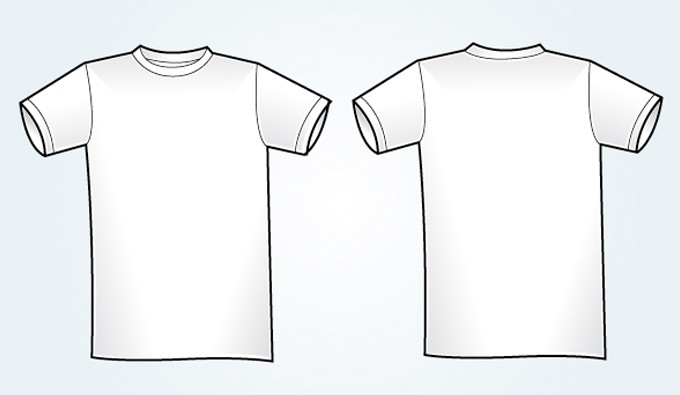 18 blank t shirt vector images blank t shirt template for White t shirt template front and back