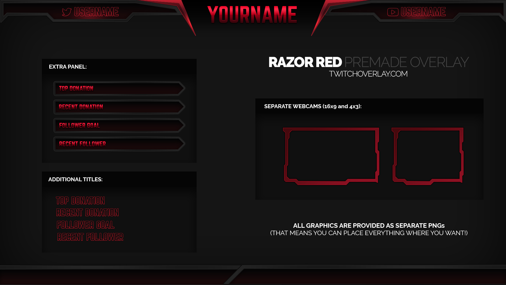 12 Stream Overlay PSD Images