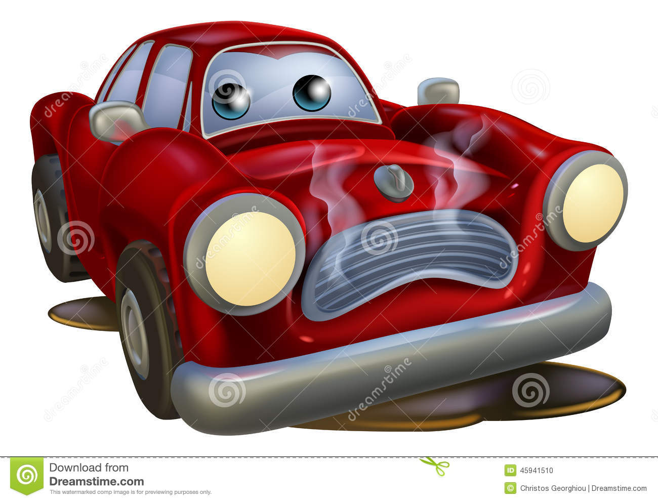 Broken Down Car Cartoon