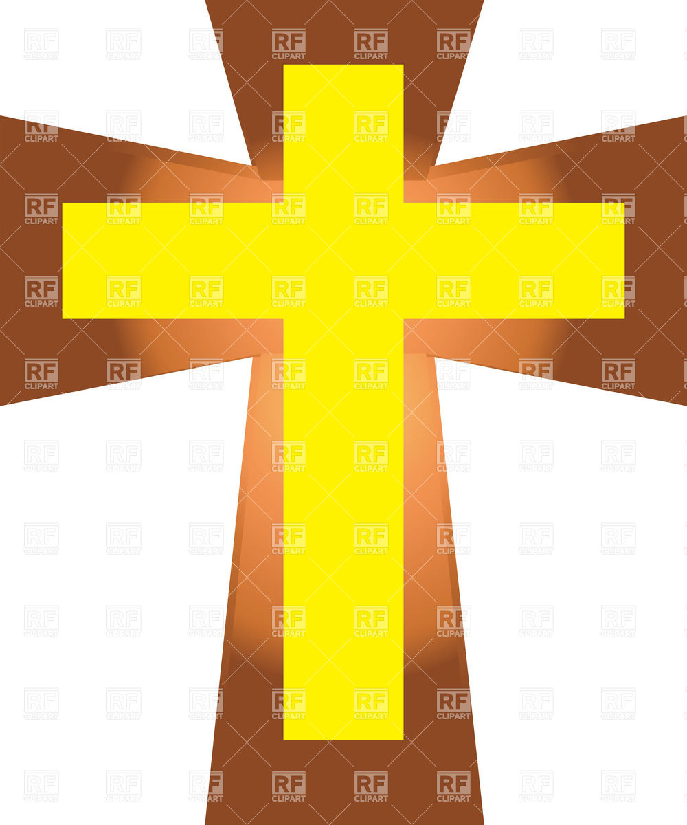 Brown Cross Free Christian Clip Art