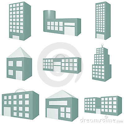 11 Overhead Office Building Icons Images