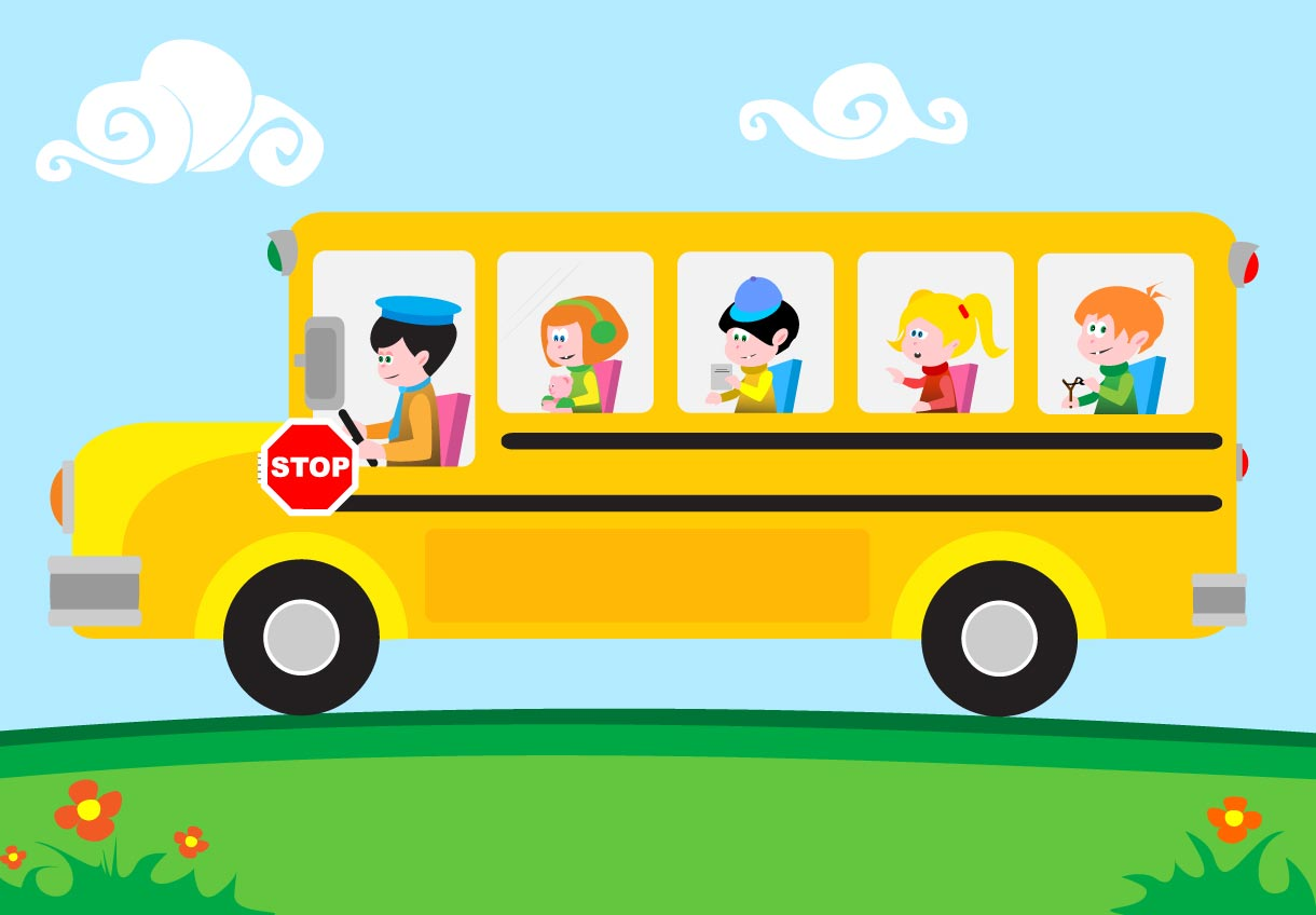 7 School Bus Vector Images