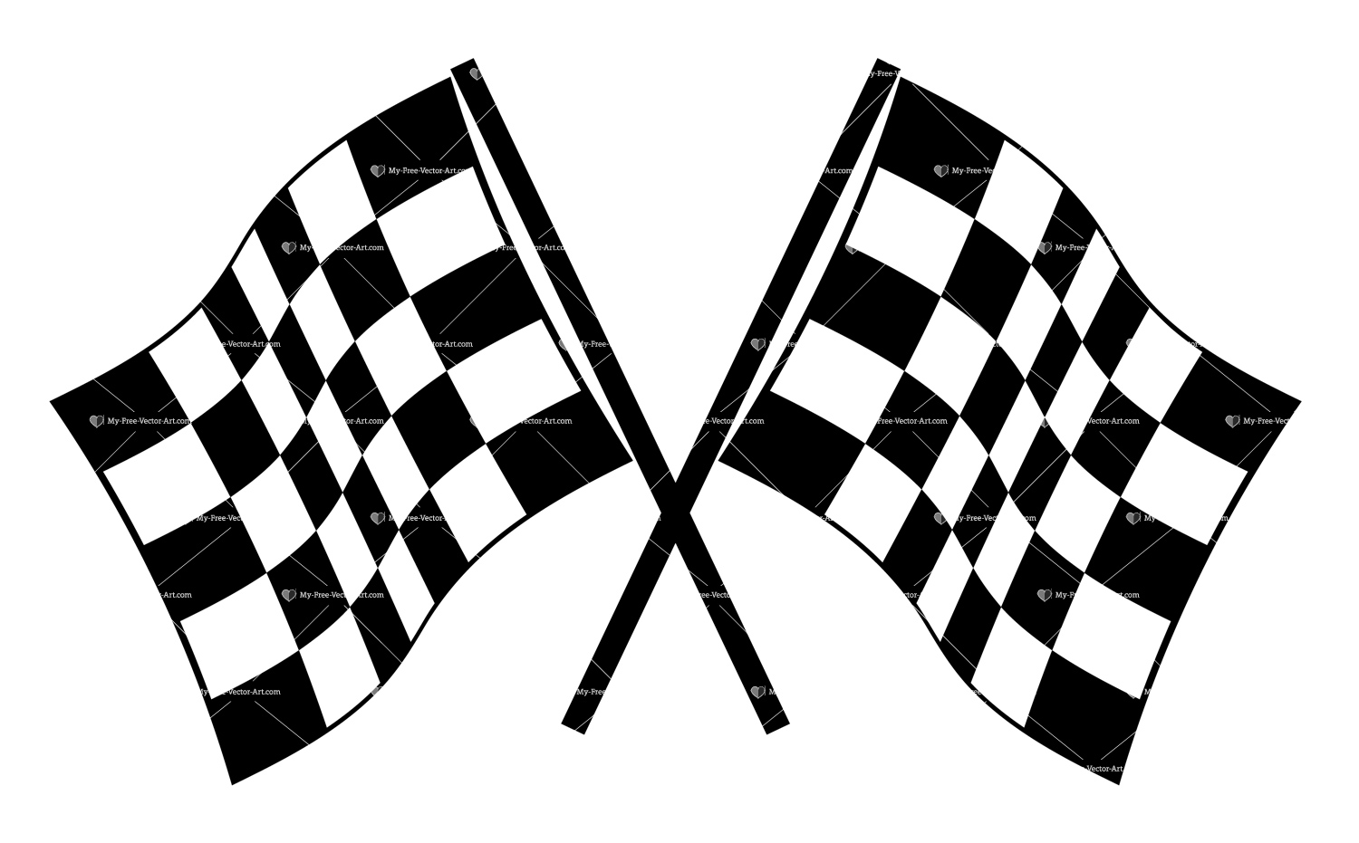 Checkered Flag Vector Art