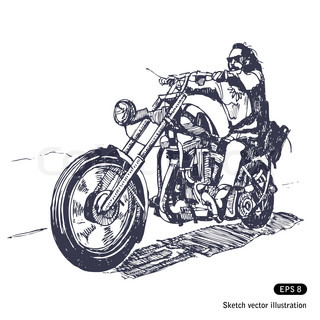 Chopper Rider Clip Art
