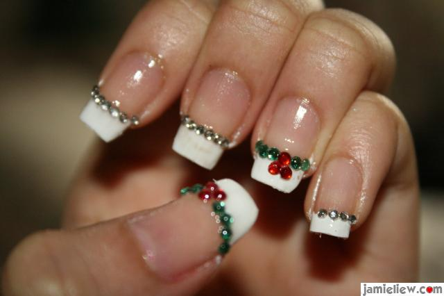 11 Christmas French Tip Nail Designs Images