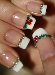 11 Christmas French Tip Nail Designs Images Christmas French Nail