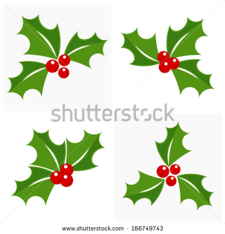Christmas Holly Clip Art Vector Images - Free Christmas Holly Clip Art ...