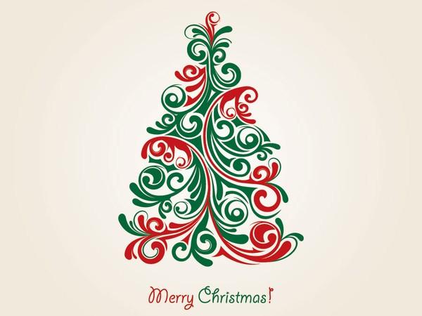 Christmas Tree Vector Art Free