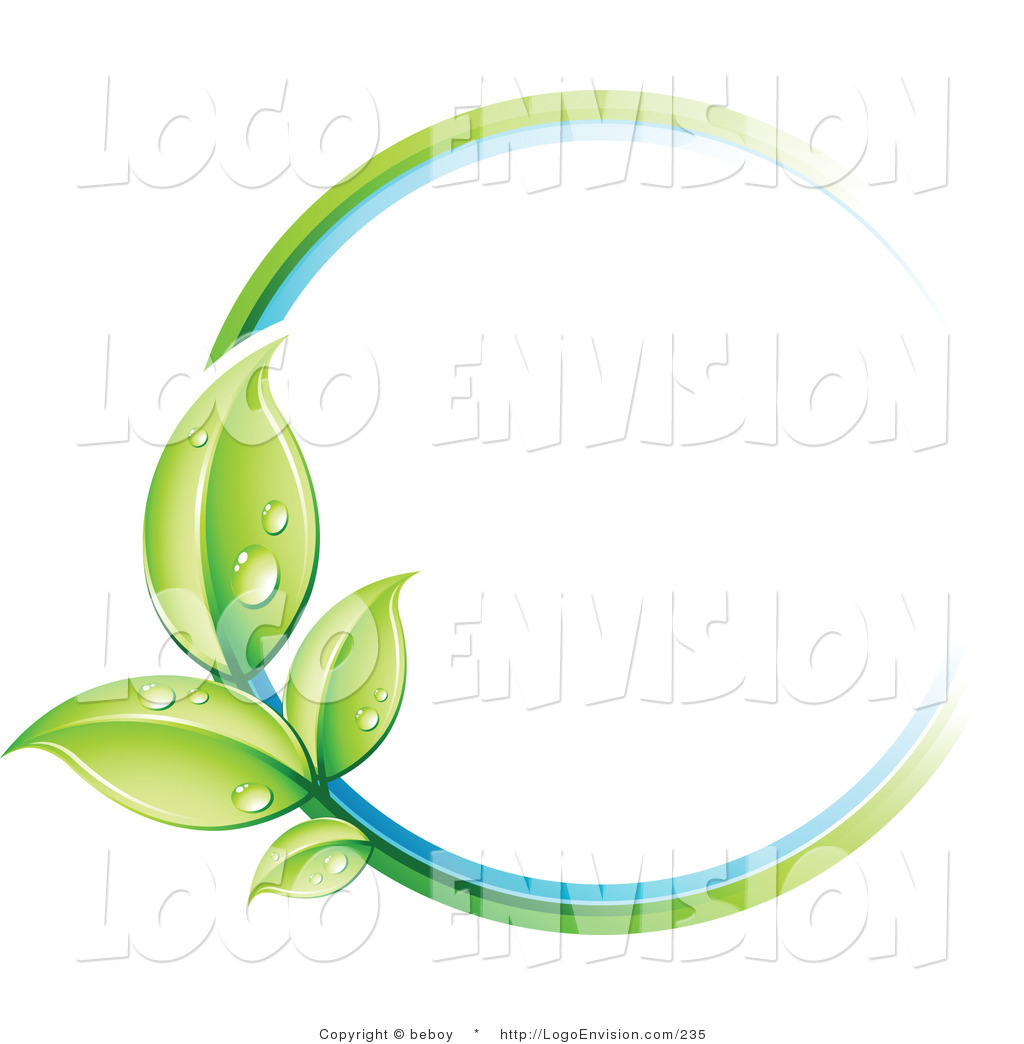 Circle Leaf Clip Art