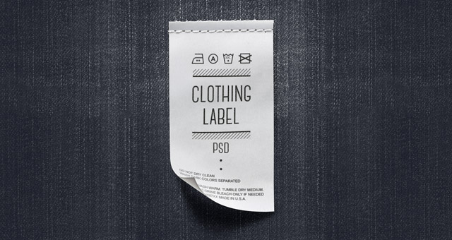 Clothing Label PSD Mockup