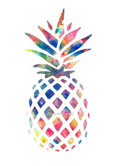 19 Rainbow Pineapple Tumblr Graphic Design Images